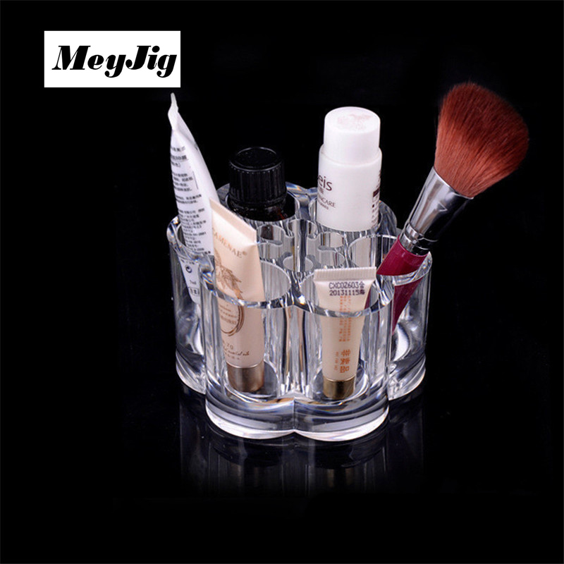 Acrylic Storage Box Makeup Organizer For Cosmetics Lipstick Holder Display Desktop Stand Clear Brow Pencil Facial Cleanser