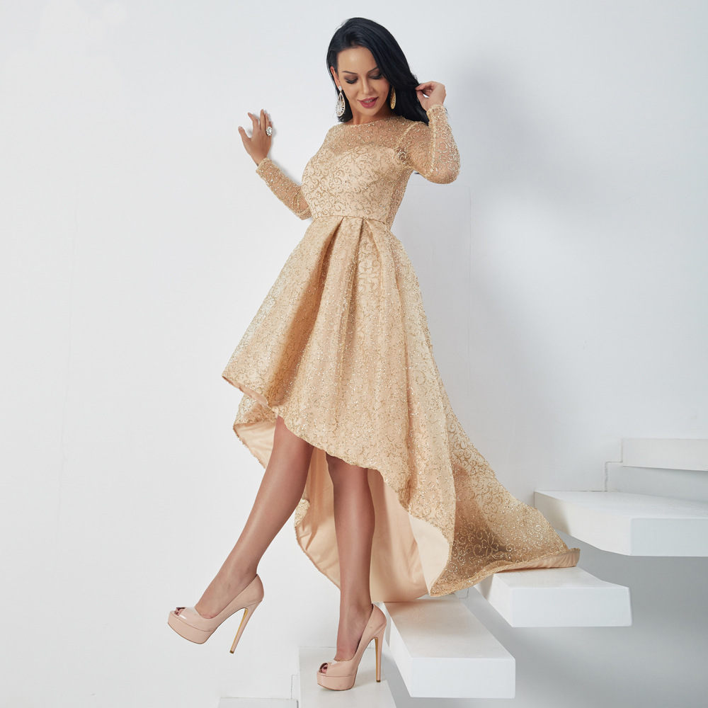 Nova Chegade robe d'hiver célébrité élégante paillettes mode boîte de nuit moulante soirée fête de noël à manches longues robes