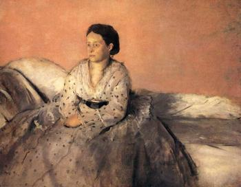 High quality Oil painting Canvas Reproductions Madame Rene De Gas (1872-1873)  By Edgar Degas hand painted