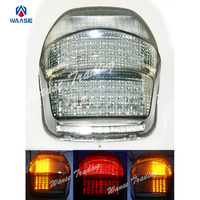 Waase cauda freio sinais de volta integrado led luz fumaça lâmpada para 1999 2000 2001 2002 2003 2004-2006 honda blackbird cbr1100xx