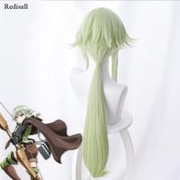 Goblin Slayer High Elf Archer Long ears Green Wig Cosplay Halloween Synthetic Hair Cosplay for Adult Event Concert Hair