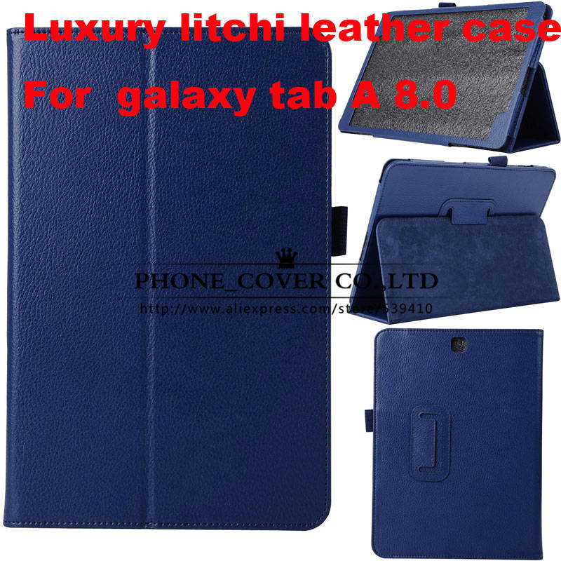 Luxury Magnet Litchi Leather Case Cover For Samsung Galaxy Tab A 8.0 T350 T351 8inch tablet cover case +screen protectors+stylus metal ring holder combo phone bag luxury shockproof case for samsung galaxy note 8