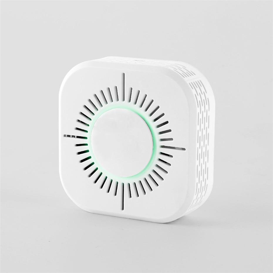 RF433 Smoke Detector,Wireless Smoke Fire Alarm Sensor,Security Protection Alarm For Home Automation