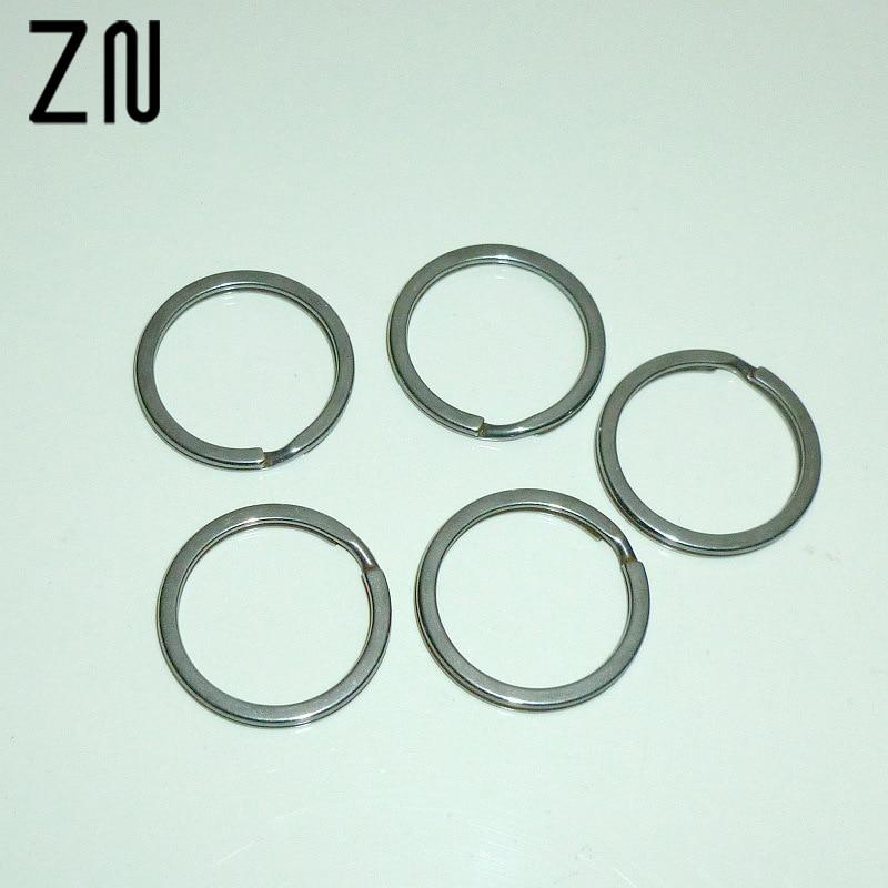 ZN 10 Pcs 32mm Key Holder Split Rings Unisex Metal Keyring Car Keychain For Men Accessories