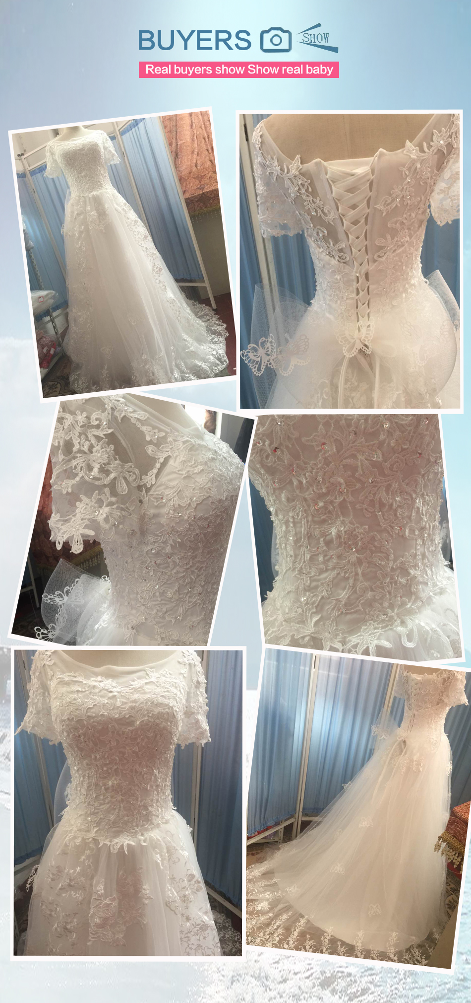 Angel Wedding Dress Marriage Bride Bridal Gown Vestido De Noiva 2017 Bud silk nail bead the small tail big bo 6700 24