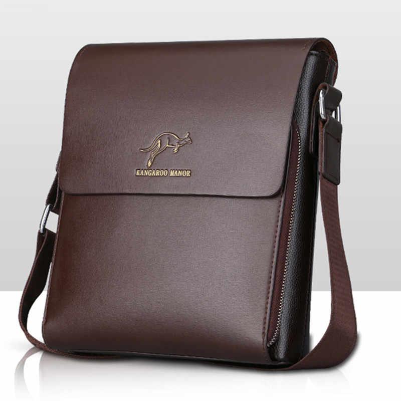 Marca de design duplo vaca divisão couro masculino bolsa ombro sacos homem bolsa couro negócios moda portátil mensageiro sacos