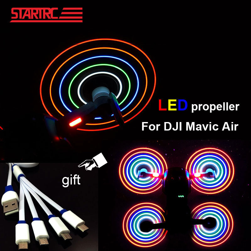 DJI Mavic Air propellers LED Flash Propeller with USB Charger line Easy to mount secure For