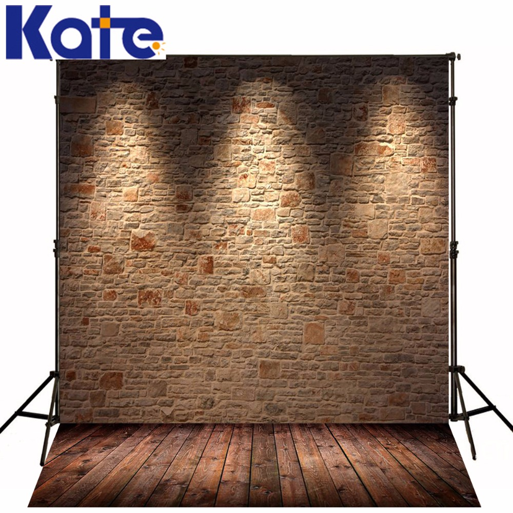 Photography Backdrops Brick Wall Lighting Stage Wood Brick Wall Backgrounds For Photo Studio Ntzc-014 купить