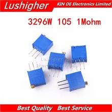 Trimmer Potentiometer 3296W-1-105LF 1M 10pcs W105 Ohm
