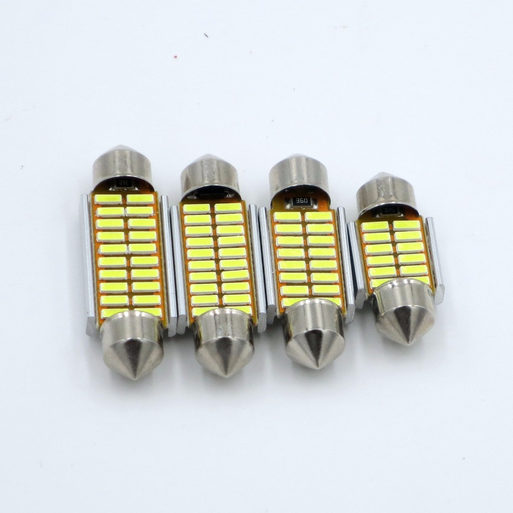 CYAN SOIL BAY 1PC 31mm 36mm 39mm 41mm C5W C10W 4014 SMD Car LED Festoon Light Canbus Error Free Interior Dome Lamp Reading Bulb cyan soil bay 1x canbus error free white t10 5630 6 smd wedge led light door dome bulb w5w 194 168 921 interior lamp
