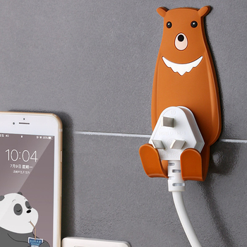 Cute Animal Wall Mounted Hook Key Cable Holder Storage Removable 4