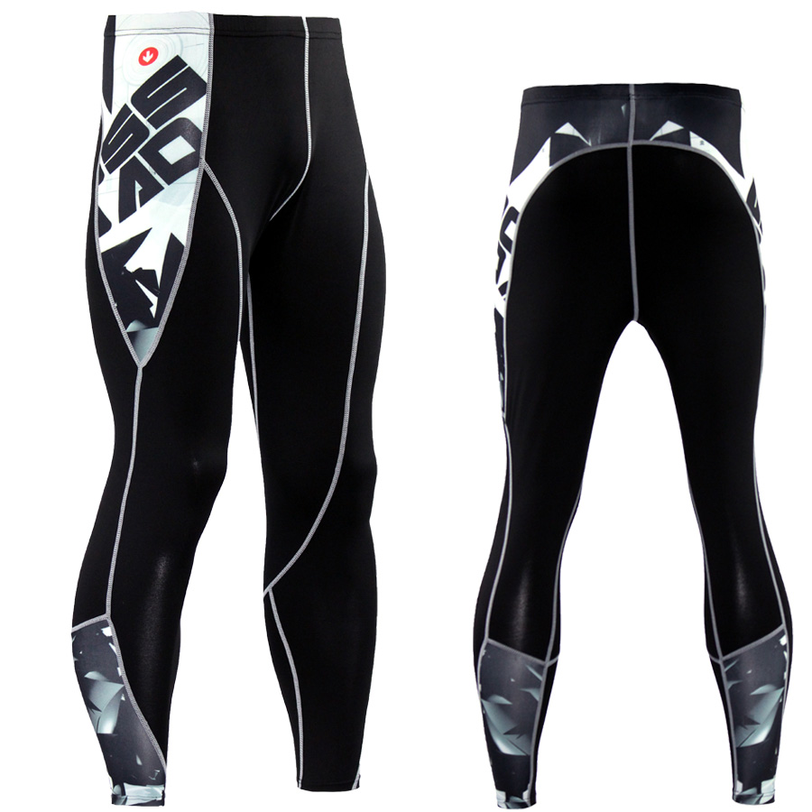 Pantaloni di compressione Fitness skinny uomo di alta qualità - Abbigliamento da uomo - Fotografia 4