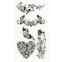 DIY Love the butterfly Transparent Clear Stamps for Scrapbooking Clear Silicone Stamp Decorative Clear Stamp Sheets.