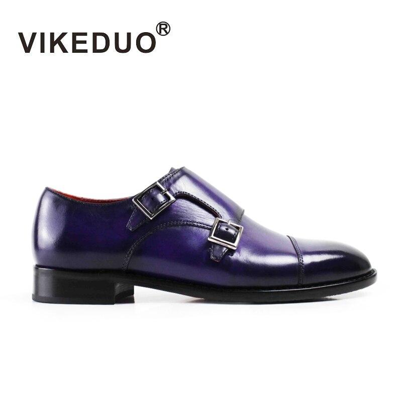 VIKEDUO/обувь из телячьей кожи фиолетового цвета с ремешком в виде монах; Новинка 2019 года; Модная элегантная женская обувь с пряжкой; модельные