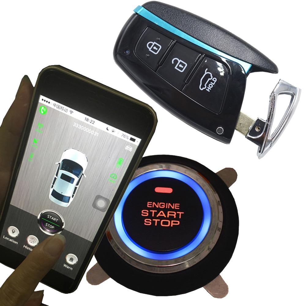 GSM&GPS Smartphone APP Start Stop Remote Control Car Alarm