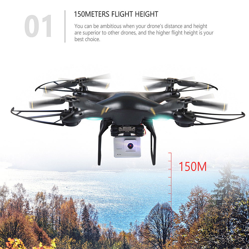 Original GoolRC T106 Drone with Camera 2.0MP WIFI FPV Altitude Hold RTF RC Quadcopter RC Helicopter Outdoors RC Toys