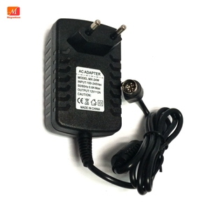 Image 1 - EU Power Adapter 12 โวลต์ 2A 4 PIN สำหรับ Hikvision video recorder 7804 7808H SNH cwt KPC 024F DVR NVR power adapter charger