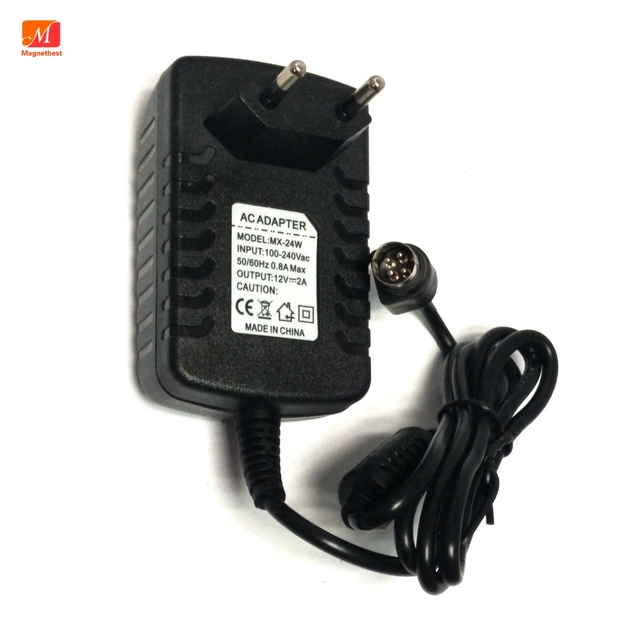 EU Power Adapter 12 โวลต์ 2A 4 PIN สำหรับ Hikvision video recorder 7804 7808H SNH cwt KPC 024F DVR NVR power adapter charger