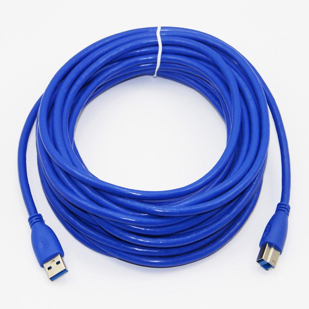 10 m 33ft USB 3.0 Imprimante Câble Type A Mâle à Type B Mâle Feuille + Tressé + PVC Blindage pour USB 3.0 Imprimante
