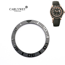 CARLYWET Wholesale New Popular Replacement Gray/Black Watch Pure Ceramic Bezel Insert For 38mm 116655 YACHTMASTER OYSTERFLEX