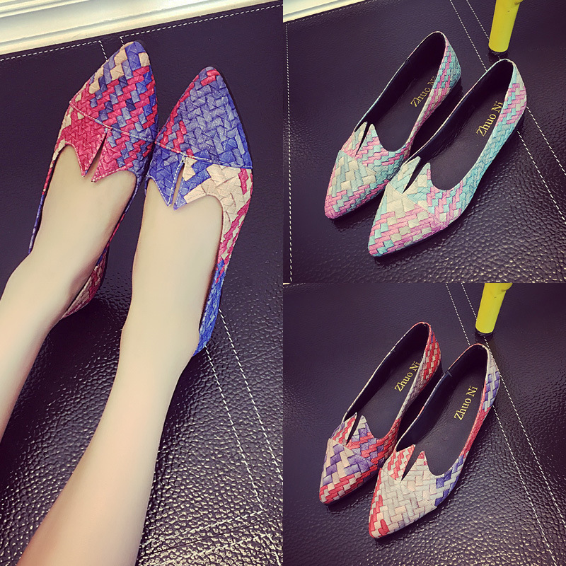 new women flats casual fashion shoes mixed colors slip on pointed toe vintage for spring autumn solid office lady brand ruideng cresfimix women cute spring summer slip on flat shoes with pearl female casual street flats lady fashion pointed toe shoes