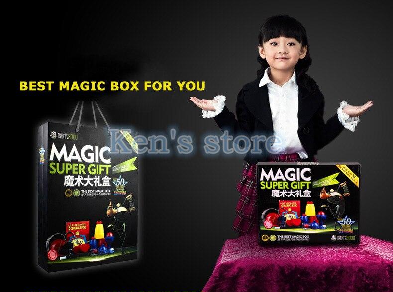 50 sortes de jeu de magie avec DVD enseignement des tours de magie professionnels scène gros plan Prop magique Gimick cartes enfant Puzzle jouet - 4