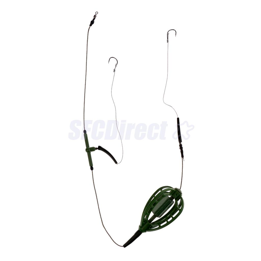 Carp Fishing Inline Method Feeder Cage Hook Hair Rig Set Group Coarse Fishing Accessories Tackles Set