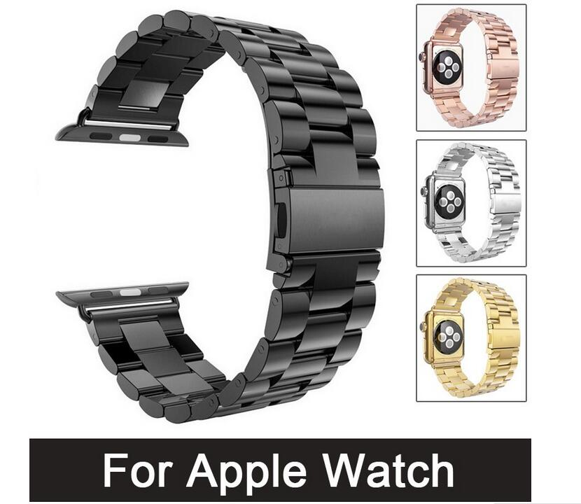 50pcs DHL For Apple Watch Band 42 44mm Stainless Steel Bracelet Buckle Strap Clip Adapter for