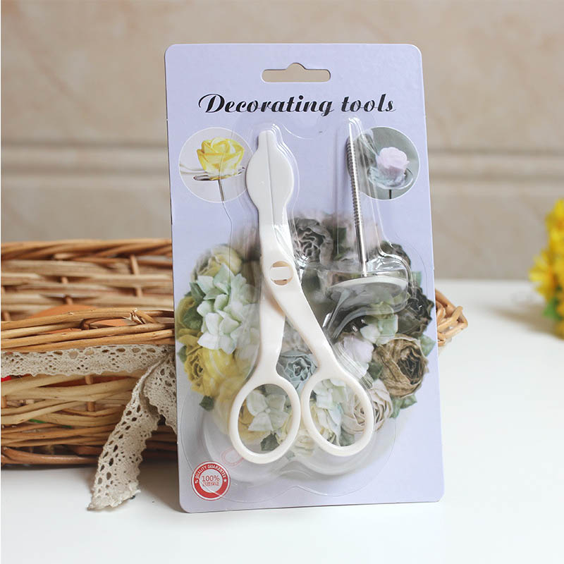 Baking Accessories Pastry Tools Cake Nails Set Icing Modeling Rose flowers Cake Buttercream Supplies Cake Scissors
