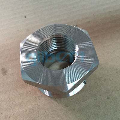 2 NPT x 3/4 NPT Female 304 Stainless Steel Reducing Bush Forged Pipe Fitting 3000 PSI Water Gas Oil