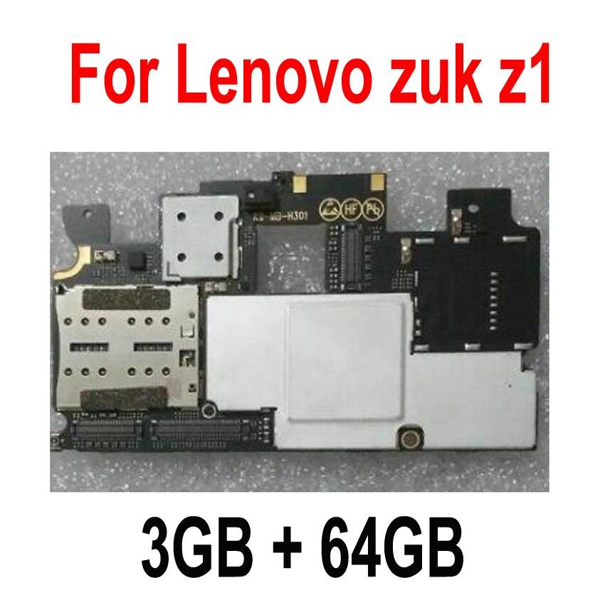 LTPro En Stock 100% Testé Travail 3 gb 64 gb Carte Mère Pour Lenovo ZUK Z1 Carte Mère carte Principale Smartphone Remplacement