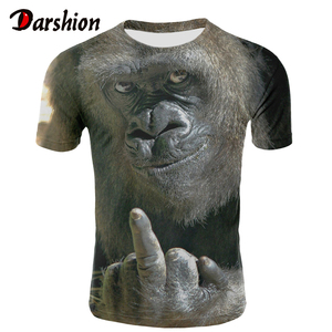 Men Animal t shirt Orangutan/monkey 3D Print tshirt Men Funny tees tops Short Sleeve O-neck 3D Print Summer Clothes XXS-4XL(China)