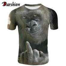 Milk Silk Men Animal t shirt Orangutan/monkey 3D Print tshirt Funny tees tops Short Sleeve O-neck Summer Clothes