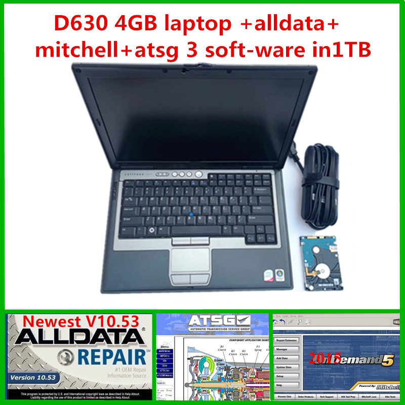2019 Auto software alldata mitchell on demand 2015 with ATSG hard disk 1TB installed on D630 4gb laptop for car truck diagnostic-in Software from Automobiles & Motorcycles