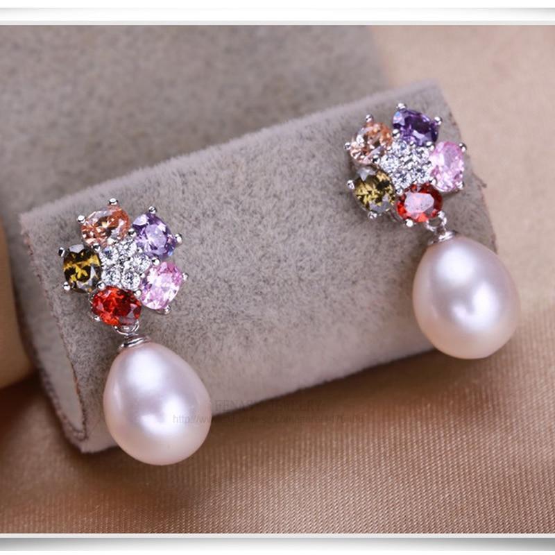 FENASY Genuine Natural Pearl Ohrringe 925 Sterling Silber Mode Blume - Edlen Schmuck - Foto 3
