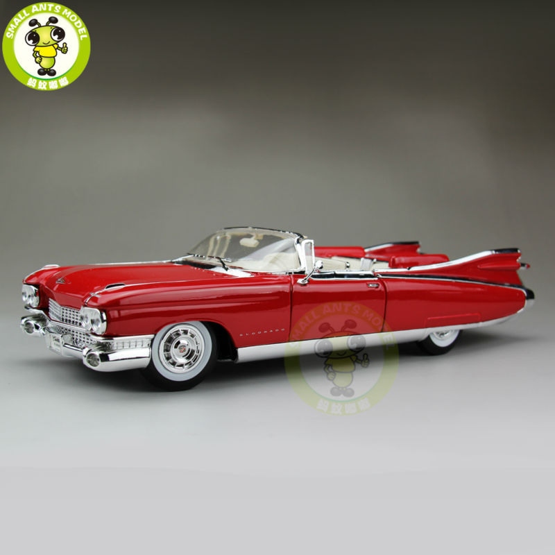 1/18 US GM 1959 Cadillac ELDORADO BIARRITZ Maisto Model Diecast Model Car Red maisto 1959 cadillac eldorado biarritz 1 18 scale alloy model metal diecast car toys high quality collection kids toys gift