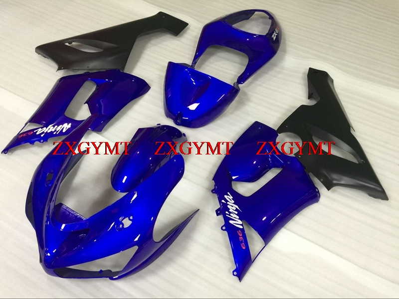 Full Body Kits for Ninja ZX-6r 2005 - 2006 Fairings 636 ZX-6r 05 Blue Black Fairing Kits ZX6r 636 05Full Body Kits for Ninja ZX-6r 2005 - 2006 Fairings 636 ZX-6r 05 Blue Black Fairing Kits ZX6r 636 05