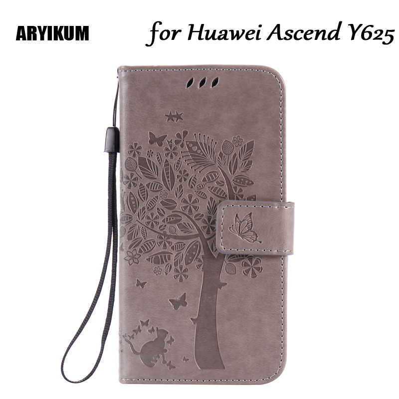 ARYIKUM Phone Cases For Coque Huawei Y625 Huawei Y 625 PU Leather ...