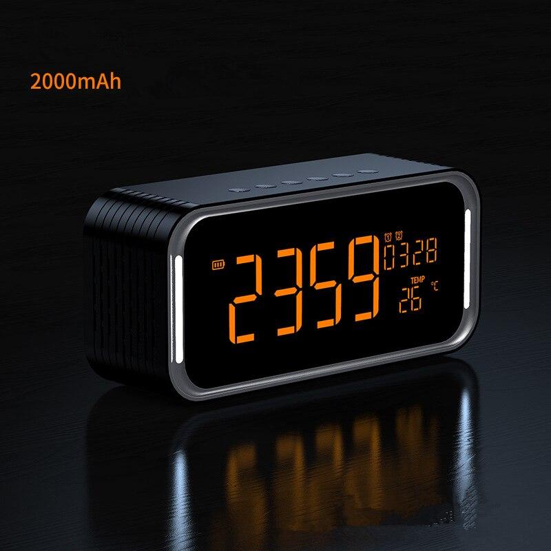 Bluetooth динамик 12 Вт стерео цифровой радио двойной будильник беспроводной динамик s AUX TF карта играть для детской вечеринки спальня кемпинг - 2