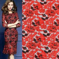 Hollow Out Embroidered Lace Fabric Multicolor African Lace Fabrics For Patchwork Telas Por Metros Tecidos Costura Wedding Dress