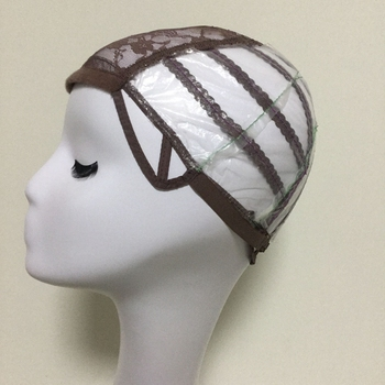 Brown Glueless Lace Wig Cap For Making Wigs With Adjustable Straps Weaving Caps For Women Hair Net & Hairnets Easycap  6017 2