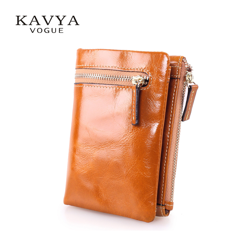 KAVYA New vintage cowhide genuine leather wallet female short design zipper wallet coin purse men and women Free shipping new 2017 free shipping women wallets short high quality genuine leather wallet for women cowhide purse with coin pocket
