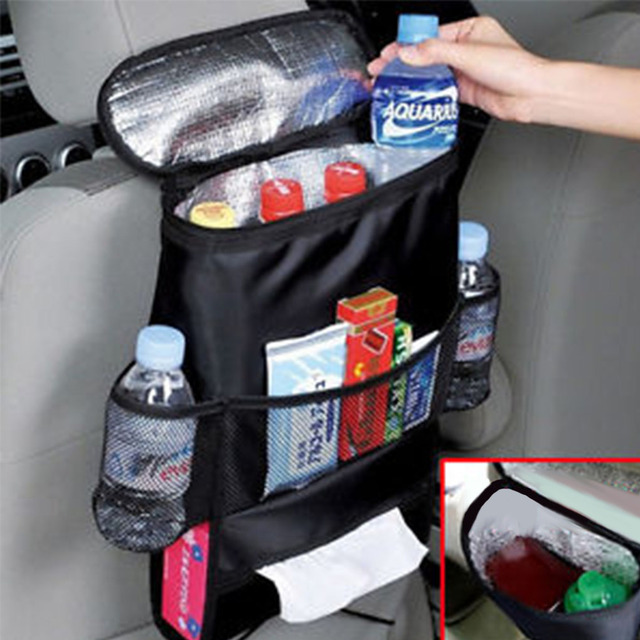 High quality Auto Car Seat Organizer Sundries Holder Multi-Pocket Backseat Storage Box Insulation Work Style