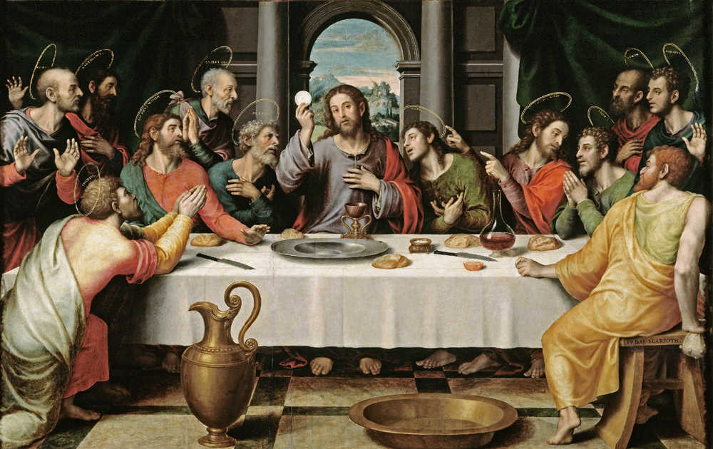"BEST ART #  Bassano Francesco The Last Supper print painting ON CANVAS # 36/"""