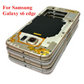 For Samsung Galaxy S6 Edge G925 G925F Middle Plate Frame Housing Bezel+Side Button+Camera Lens+NFC,Free Shipping&Tracking Number