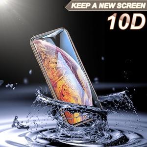 Image 4 - 10D verre de protection sur le pour Apple iphone xs xr x 11 Pro max protecteur décran pour iphone 6 6s 7 8 plus 9H film tremp trempé