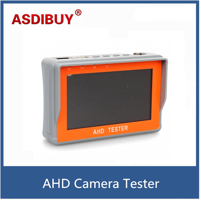 4.3 inch two in one AHD tester CCTV tester monitor AHD 1080P and analog camera testing UTP cable test 12V1A output