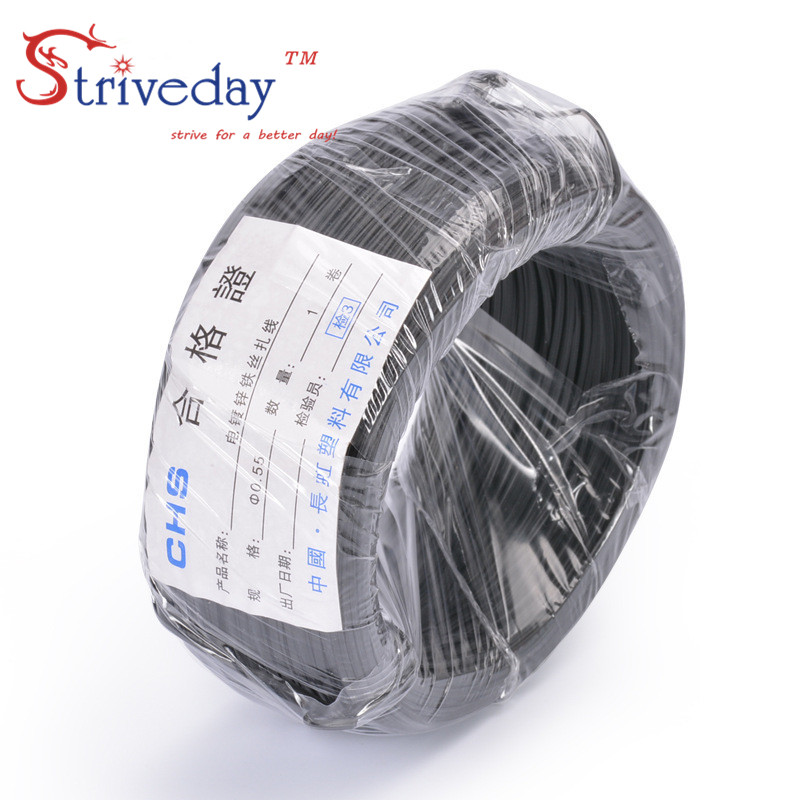 90m / rolos 0.55 White Black Galvanized iron wire Sizha Plastic coated wire Cable ties Environmental Ties-in Cable Ties from Home Improvement on ...