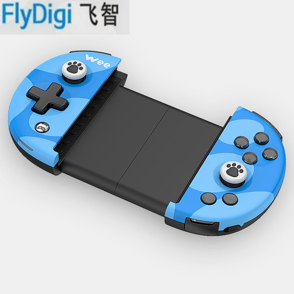 цена на FlyDiGi Wee Wireless Bluetooth 4.0 Game Controller Adjustable For iOS For Android Buttons Anti-slip Stretching Remote Joystick
