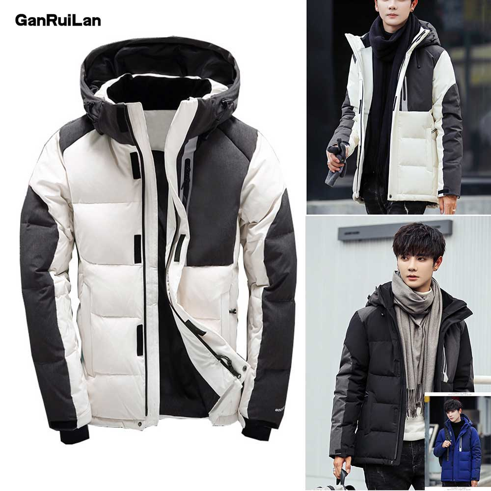 2019 New Men Winter Thick Duck Down Jacket Men Hooded Down waterproof snow Coat Warm Quality Male Casual Outerwer Down   Parkas